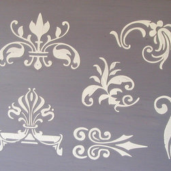 Raised Plaster Small Designs #2 Stencil Set - 6 Highly ornate designs perfect for that coffee table project, cupboard doors and drawers, vases, picture frames and so much more!