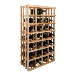 Wine Cellar Innovations - Vintner 4 ft. Double Magnum Wine Rack (Rustic Pine - Unstained) - Choose Wood Type and Stain: Rustic Pine - UnstainedBottle capacity: 28 magnums, double magnums to 56 standard. Custom and organized look. Versatile wine racking. Allows variety of different-sized bottles to be stored together. Space saving larger bin format design. Can accommodate just about any ceiling height. Optional base platform: 26.69 in. W x 13.38 in. D x 3.81 in. H (5 lbs.). Wine rack: 26.69 in. W x 13.5 in. D x 47.19 in. H (6 lbs.). Vintner collection. Made in USA. Warranty. Assembly Instructions. Rack should be attached to a wall to prevent wobble