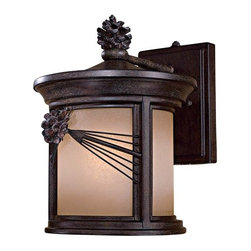 The Great Outdoors - The Great Outdoors GO 9152-PL 1 Light Fluorescent Outdoor Wall Sconce from the A - Single Light Fluorescent Outdoor Wall Sconce from the Abbey Lane CollectionFeatures: