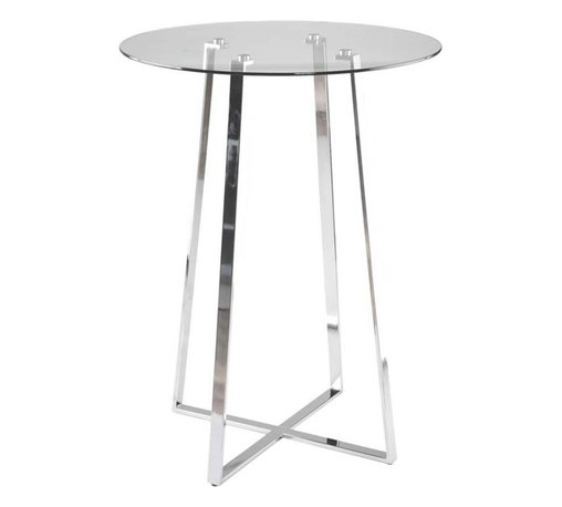 Eurostyle - Eurostyle Ursula-B Round Glass Bar Table w/ Chromed Steel Base - Round Glass Bar Table w/ Chromed Steel Base belongs to Ursula Collection by Eurostyle Place drinks or a snack on this stylish Ursula Glass Top Bar Table - Eur Style. The compact size of this bar table enables you to use it even in small spaces. Table Base (1), Table Top (1)