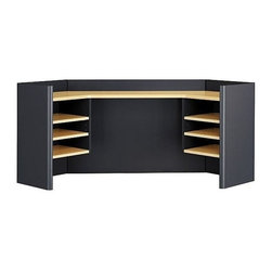 Bush Business - 42 in. Corner Hutch w Adjustable Shelves (Lig - Color: Light Oak/SageSits atop 42 in. corner desk to provide open storage space and privacy. Includes two fixed shelves and four adjustable shelves. Pictured in Savannah Beech and Slate. 40.748 in. W x 40.748 in. D x 23.583 in. H