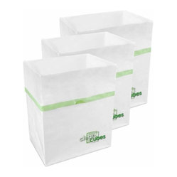 Clean Cubes Mini Disposable Bin, Two 3-Packs
