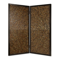 Screen Gems - Screen Gems Anacapa Screen - 84 Inch - High design and inlayed abalones. The shell s are inlayed in an artistic arrow pattern. Reflected light at varying angles emits a varied color pattern. This handmade screen is finished on both sides.F116