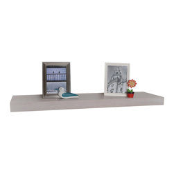 "Welland - Wood Veneer Wall Shelf 48"" - The problem: You need more shelving but have officially depleted your furniture budget for the year. The solution: Mount these versatile wall shelves throughout your home or office to create all the space you need without investing in costly bookcases or cabinets. The end."
