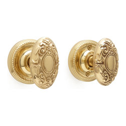 Victorian Door Knob Set - Privacy or Passage - The intricate details in this beautifully crafted knob represent style and class. Add this set to your home's interior for a look of sophistication.