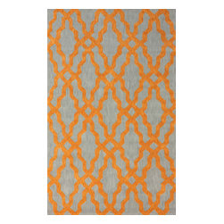 nuLOOM - 5'x8' Orange Hand Hooked Area Rug Cotton and Wool Trellis VST28 - Made from the finest materials in the world and with the uttermost care, our rugs are a great addition to your home.