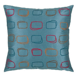 Rizzy Home - Blue and Multi Decorative Accent Pillows (Set of 2) - T03569 - Set of 2 Pillows.