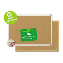 MasterVision - MasterVision 24 x 18 in. Earth Cork Board Multicolor - BVCCA021790 - Shop for Bulletin Boards from Hayneedle.com! Post important notes updates or reference material on the MasterVision 24 x 18 in. Earth Cork Board. This eco-friendly board is made of high-quality cork material that s 97-percent recyclable. You can pin-up papers bulletins or notes on this board with the help of thumbtacks. Built to pass the test of time it s made with a durable aluminum frame. It also features a built-in tray to store your markers pens and eraser. Clear plastic hangers and a pre-installed circular hole make it easy to mount.About United StationersDedicated to making life in the office more organized efficient and easier United Stationers offers a wide variety of storage and organizational solutions for any business setting. With premium products specifically designed with the modern office in mind we're certain you will find the solution you are looking for.From rolling file carts to stationary wall files every product in the United Stations line is designed with one simple goal: to improve office efficiency. In turn you will find increased productivity happier more organized employees and an office setting that simply runs better with the ultimate goal of increasing bottom line profits.