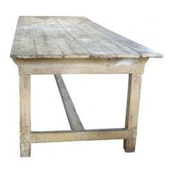 ecofirstart - French Farm Table - Bring truly solid style to your dining setting. This impressive white oak piece, crafted to re-create an 18th-century French farm table, is long on rustic charm.