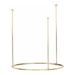 Renovators Supply - Shower Curtain Rods Round | 10861 - Shower curtain rods. 32 inches round. Brass.