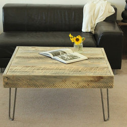 Reclaimed Wood Square Coffee Table - Coffee Table (Homestead Collection - Large)
