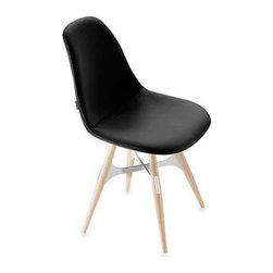 Kubikoff - ZigZag Pop Chair, Gabriel Fabric Dark Grey, White Metal Cross - ZigZag Pop Chair