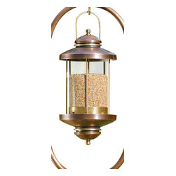 H Potter - Wellington Bird Feeder - Birdseed shines bright in this charming lantern-shaped bird feeder. Its top handle allows the feeder to hang from a hook, providing the birds in your neighborhood with an unobstructed opportunity to perch comfortably.