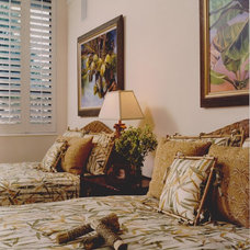 Tropical Bedroom by MICHAEL PETER DESIGN ASSOCIATES INC