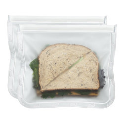 BlueAvocado - (Re)Zip Seal Lunch Pack - Set of Two - Reduce use of disposable baggies for taking lunch on the go thanks to these reusable pouches made from food-safe PEVA material.   Includes two packs 8.5'' W x 7.25'' H PEVA Zip closure PVC-, BPA- and lead-free Hand wash Imported