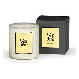 Verbena A.B. Home Soy Wax Candle - Large - Verbena's clean, crisp lemon and green smell is so distinct that if you are familiar with it, you can recognize it anywhere. Traditionally used in teas and in herbal remedies, this Verbena A.B Home candle is meant only to delight the olfactory senses and bring a sense of calming energy to your space.