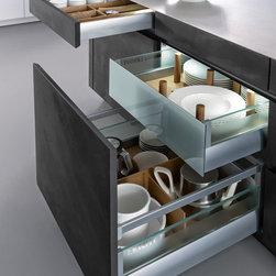 Concrete Cabinets Industrial Chic - http://www.leicht.com/en-us