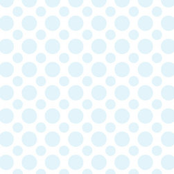 Murals Your Way - Light Blue Polka Dots Wall Art - Painted by Andy K., the Light Blue Polka Dots wall mural from Murals Your Way will add a distinctive touch to any room