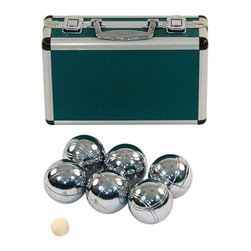 Jaques - Jaques Alloy 6 Boule Bocce Ball Set with Metal Case - Petanque Multicolor - 2462 - Shop for Backyard Games from Hayneedle.com! If a European asks to see your boules be sure you've got a top-of-the-line set like the Jaques Alloy 6 Boule Bocce Ball Set with Metal Case. This petanque set brings the immensely popular French or Italian (it depends on who you ask) version of bocce ball to the US with heavy hollow metal balls that make a satisfying clang when they collide. This set is a great way to bring petanque home with a full set of 6 polished alloy boules and a standard jack or target ball. This gleaming set stays put in the included matching metal case. About Jaques of LondonAs the oldest games company in the world the name Jaques is inexorably intertwined with the history of almost any classic game. After literally inventing croquet popularizing the gold-standard Staunton chess pieces everyone recognizes and building a series of other games and items with the finest wood in the world Jaques has continued to reinvent itself. Today they produce game pieces and sets of the utmost quality in the strongest rarest and best-looking materials on Earth.