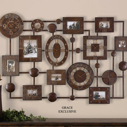 "6700 Almanzo, Photo Collage & Clock by Uttermost - Get 10% discount on your first order. Coupon code: ""houzz"". Order today."