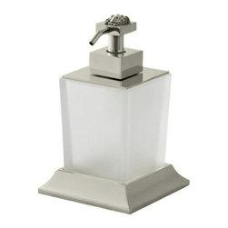 Versace - Versace SUPERBE CHROME Crystal Liquid Soap Dispenser - Versace Liquid Soap Dispenser