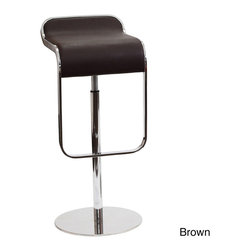 Modway - Lem Piston Genuine Leather Bar Stool - The LEM Style Bar Stool has sleek lines that would be equally impressive in a restaurant or at home. This stool is has a high-quality Italian leather seat,making it perfect for entertaining guests at restaurants or your home bar.
