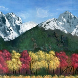 """Autumn Mountainscape"" (Original) By Andrew Keola - Inspiration:"