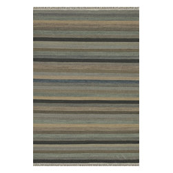 Loloi Rugs - Loloi Rugs Camden Ocean Transitional Hand Woven Striped Rug X-670500CO20-MCDMAC - The Camden Collection from India, is hand-woven of 100% wool, showcasing a series of striped and solid flat weave kilims in a broad range of soft, on-trend colors. Camden's defining characteristic is its texture, which alternates with each stripe inthe pattern to create an unprecedented appearance that will freshen up any room.