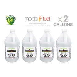 Moda Flame - Moda Flame Ventless Bio Ethanol Fireplace Fuel (2 Gallons) - Moda Flame Ventless Bio Ethanol Fireplace Fuel (2 Gallons)