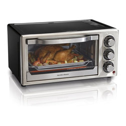 Hamilton Beach - Hamilton Beach 31512 6 Slice Convection Toaster Oven Multicolor - 31512 - Shop for Toasters from Hayneedle.com! Get versatile cooking right on your kitchen counter with the Hamilton Beach 31512 6 Slice Convection Toaster Oven. Made for quick and easy baking this appliance lets you cook a variety of foods with convection or standard heat and can hold up to a 6-pound chicken or a 9-inch pizza. It features broil bake and toast settings timer auto shut off removable crumb tray and baking rack.About Hamilton BeachOne of the country's leading distributors of small kitchen appliances Hamilton Beach Brands Inc. sells over 35 million appliances every year. The company's most famous brands -- Hamilton Beach Eclectrics Proctor Silex and TrueAir -- are found in households across America Canada and Mexico. Hamilton Beach takes immense pride in their product quality wide variety of options superior customer service and brand name strength and remains committed to serving customers through Good Thinking applied to the style and function in all of their small electric appliances.