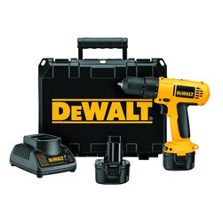"Dewalt - 9.6-Volt Cordless Drill/Driver Kit - Dewalt Dc750Ka 9.6-Volt Cordless Drill/Driver KitBrand: Dewalt. DEWDC750KA. Compact Size & Lightweight Design. Heavy-Duty 3/8"" Single-Sleeve Ratcheting Chuck. Dual Speed Range: 0-300/0-1100 Rpm . 15-Position Adjustable Clutch . Rubber Grip. Weight: 3.4 Lbs. Includes Two 9.6V Batteries & 1-Hour ChargerProduct Class: ToolsUPC: 28877547879Manufacturer's Warranty: 90 Days"