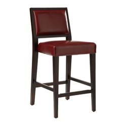 Sunpan - Citizen Counter Stool, Oxblood - Contemporary counter stool makes excellent accent for your kitchen