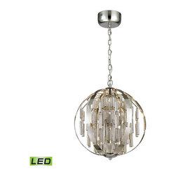 Elk Lighting - Elk Lighting 11726/LED Light LED Cylinders Light LED Globe Pendant - Lamping Technologies:
