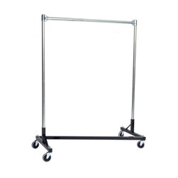 "Quality Fabricators - Z-Rack - Heavy Duty 48"" Long Base Single Rail w/ 60"" Uprights Black - This Z-rack can satisfy several household and business purposes, all while saving valuable floor space. And because it is industrial grade, with five foot uprights, you don't have to worry about stability and control."