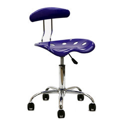 Rush Acrylic Task Chair in Blue