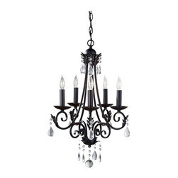 Murray Feiss - 5 Bulb Black Chandelier - - cUL Dry Approved.