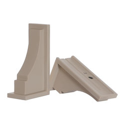 Mayne Inc. - Fairfield Decorative Brackets Clay (2pk) - The Charleston mail post will add curb appeal to any home. Design features include decorative molding details, inset panels, and arched mailbox arm support. Mayne plastic mail posts are made from high quality polyethylene with built in UV inhibitors for long lasting protection from the elements. Includes decorative post, mailbox support arm, hardware kit, and instructions. Small mailbox recommended. Best suited for mailboxes weighing less than 7lbs, top inset panel on the post measures 1.85in W x 25.6in H. Note: 4x4 wood post, mailbox, and mailbox mounting hardware NOT included. Optional Mayne No-Dig Ground Screw available.