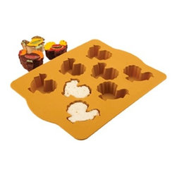 Silicone Turkey Cakelette - I don't know. I'm a little skeptical about these Turkey Cakelette pans. I find that it's so hard to bake a cake that keeps its shape and design. I guess that's what the decorating is for.
