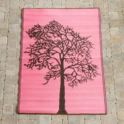 Koko Company Trees 4 x 6 ft. Indoor/Outdoor Area Rug - Pink/Brown - The Koko Company Trees Indoor/Outdoor Rug - Pink/Brown is a perfect choice for a modern, outdoor entertainment area. This rug is made in India of 100% polypropylene and can be cleaned by spraying with a garden hose then drip dried.About Koko RugsThe Koko Company has established itself as a leader in the indoor/outdoor small rugs industry. With its array of colors and styles, Koko offers a solution for any need. The rugs are made of durable materials and feature trendy colors and designs that appeal to all customers.