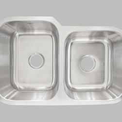 KCK Kitchen Sinks - Undermount Double Bowl Sink LCL202R - Undermount Double Bowl Sink LCL202R: