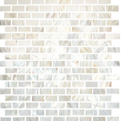 "Susan Jablon Mosaics - White Mother Of Pearl Shell - These 1/2 x 1 1/4 Inch Mother Of Pearl Tiles . Hand cut 1/2"" x 1 1/4"" white mother of pearl shell. A perfect match for any counter top. This tile is a stunning natural, organic backsplash treatment. Enjoy these gorgeous blend of tiles in your kitchen, bathroom or anywhere! Bring the elegance and fine beauty of one of natures most spectacular gifts into your daily life. Our shell tile is a perfect solution for a sturdy, natural, jaw dropping effect without going over the top. Let mother nature dazzle you! It is very easy to install as it comes by the square foot on mesh and it is very easy to clean! About a decade ago, Susan Jablon re-ignited her life-long passion for mosaics and has built a customer-focused, artist-driven, business offering you the very best in glass and decorative tiles and mosaics. We are a glass tile store committed to excellence both personally and professionally. With lines of 100% SCS Qualified recycled tile, 12 colors and 6 shapes of mirror, semi precious turquoise stones from Arizona mines, to color changing dichroic glass. Stainless steel tiles in 8mm and 4mm and 12 designs within each, and anything you can dream of. Please note that the images shown are actual photographs of the tiles however, colors may vary due to the calibration of each individual monitor. Please note that the images shown are actual photographs of the tiles however, colors may vary due to the calibration of each individual monitor. Ordering samples of the tiles to verify color is strongly recommended."