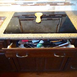 "Tourney Cabinet Job - Cooktop - KitchenAid 30"" Architect II Induction Cooktop, KCIU500XBL"