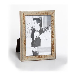 """Origin Crafts - Gianni distressed silver wood picture frame - Gianni Frosted Silver Distressed Wood Picture Frame Inspired by the glorious works of treasured Italian artisans, the Gianni mouldings are an exclusive Roma creation. Gianni mouldings are hand finished and distressed to achieve a time-endured elegance. These handmade mouldings use premium woods that undergo an antiquing process by master artisans using traditions of Florentine craftsmen. Dimensions (in): Width: 3/4, Height: 5/8 Holds (4""""x6"""", 5""""x7"""", 8""""x10"""") photos. By Roma Moulding - Roma Moulding uses only the highest quality materials. Roma owes it?s renown to exquisite details: meticulous applications of gold and silver leafing, genuine woods, exotic veneers, patinas, superior lacquers and finishes all done by hand. Roma employs time proven techniques to achieve the stunning finishes other manufacturers strive to achieve. Ships within Five Business Days."""