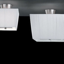 Martina C Ceiling Lamp By Modiss Lighting - Martina C by Modiss is a series of contemporary lights that features a rectangular shades finished in silk ribbon.