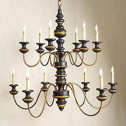 Chelsea House - New Chelsea House Chandelier 2-Tier Turned - Product Details