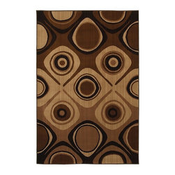 """Mohawk - Contemporary Danger Zone 5'3""""x7'10"""" Rectangle Brown-Cream Area Rug - The Danger Zone area rug Collection offers an affordable assortment of Contemporary stylings. Danger Zone features a blend of natural Brown-Cream color. Machine Made of Polypropylene the Danger Zone Collection is an intriguing compliment to any decor."""