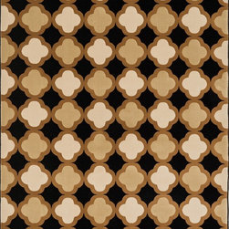 "Loloi Rugs - Loloi Rugs Shelton Collection - Black / Camel, 7'-7"" x 10'-6"" - Power-loomed in Turkey of durable polypropylene, Shelton's vivid, graphic designs spotlight�dramatic zigzag chevrons, elegant ironwork and Moroccan tile motifs in a palette that is�pleasing for both him and her. Zen-like, earthy hues of rich black, brick, brown, ivory, misty�blue and camel set a surprisingly soothing tone that can help add style to your home and�order to your day.�"