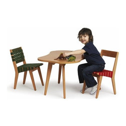 Kids Risom Amoeba Table - Start molding your child into a modernist as early as possible with this playful amoeba table by furniture master Jens Risom. His chairs look too perfect with it; you're probably going to have to go over and order some of those at the same time!
