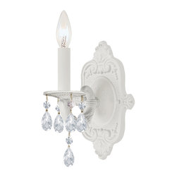 Traditional Wet White 1-light Wall Sconce -
