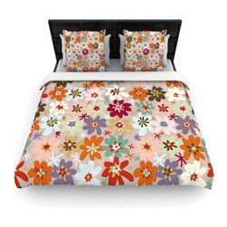 "Kess InHouse - Laura Escalante ""Sophie"" Multicolor Floral Fleece Duvet Cover (Twin, 68"" x 88"") - You can curate your bedroom and turn your down comforter, UP! You're about to dream and WAKE in color with this uber stylish focal point of your bedroom with this duvet cover! Crafted at the click of your mouse, this duvet cover is not only personal and inspiring but super soft. Created out of microfiber material that is delectable, our duvets are ultra comfortable and beyond soft. Get up on the right side of the bed, or the left, this duvet cover will look good from every angle."